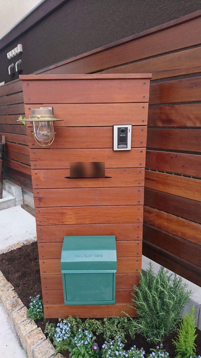 イタウバ×ウリン製ウッド門柱DIY