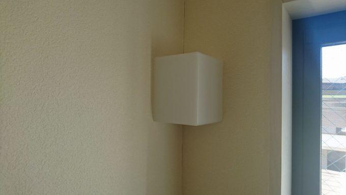 新築戸建て・ボックス階段の照明・シンプルで飽きのこないLED照明