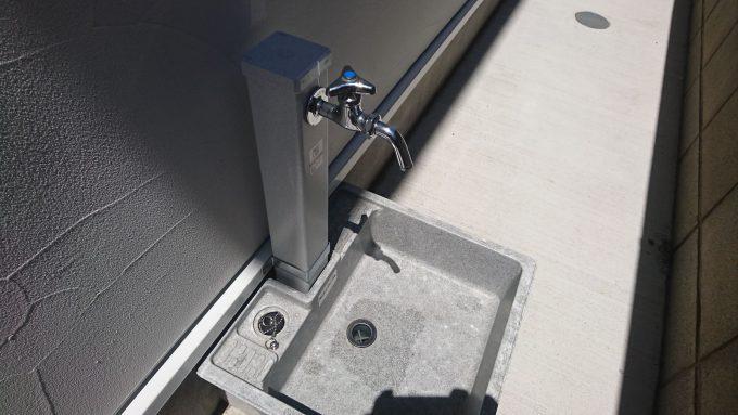 【外構】外水栓:お洒落な立水洗にこだわらなくてよかった