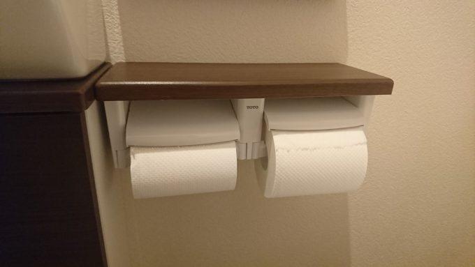 WEB内覧会1階トイレ2連式のシンプルなペーパーロール