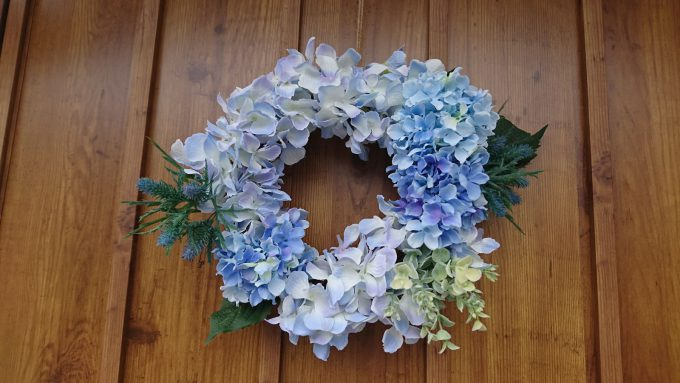 紫陽花(アジサイ)のリース