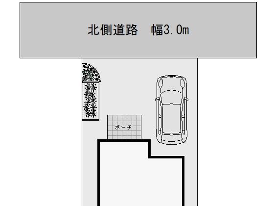 幅3mの狭い道路に面した駐車スペース考察