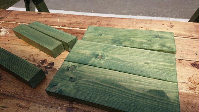 【DIY】スツール塗装・補強材と天板